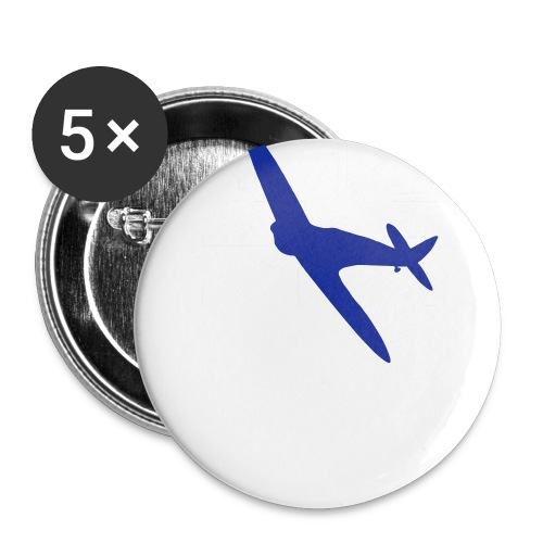 ukflagsmlWhite - Buttons large 2.2''/56 mm(5-pack)