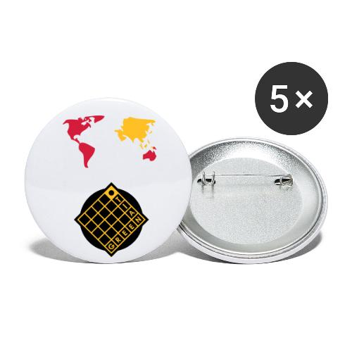 Tian Green mode Logo - Buttons groß 56 mm (5er Pack)