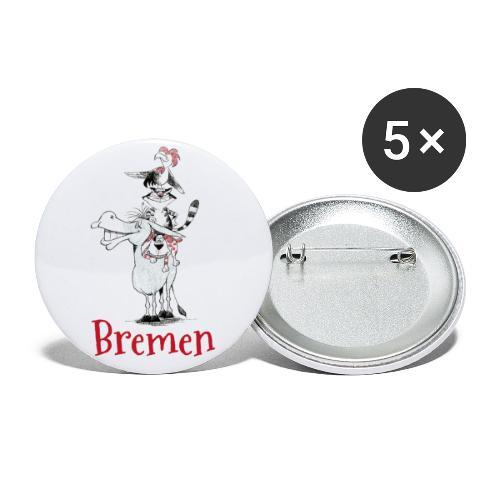 Bremer Stadtmusikanten - Buttons groß 56 mm (5er Pack)