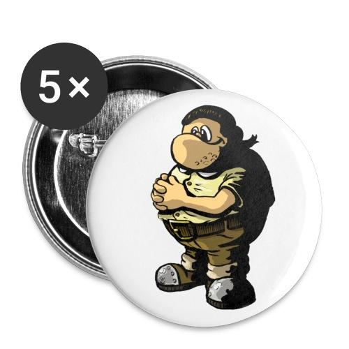 wiz mascott - Buttons groß 56 mm (5er Pack)