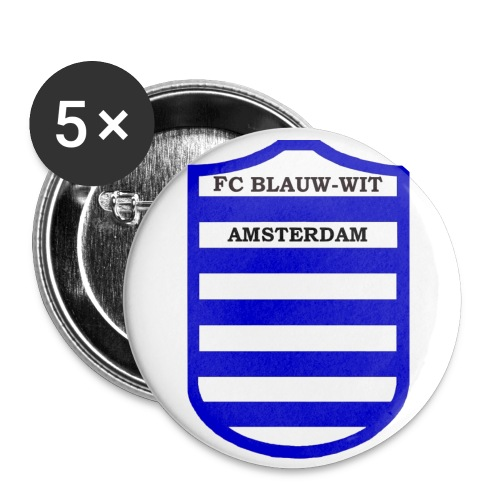 blauwwitadam - Buttons groot 56 mm (5-pack)