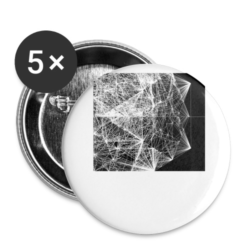 dodecahedron wire-frame - Buttons large 2.2''/56 mm (5-pack)