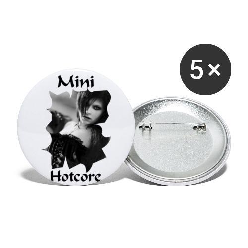 Black & White - Buttons groß 56 mm (5er Pack)