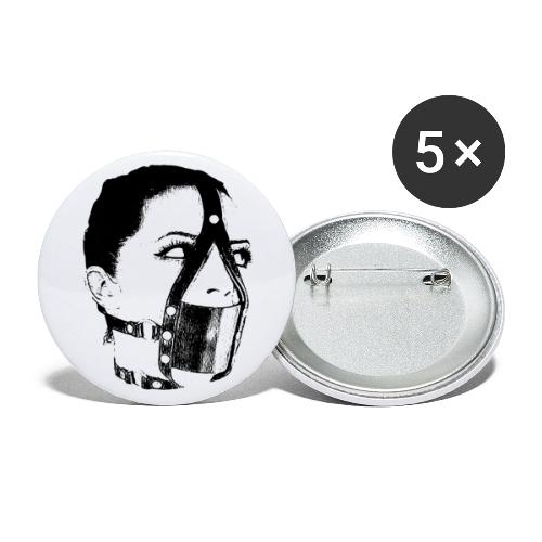 Leise - Buttons groß 56 mm (5er Pack)