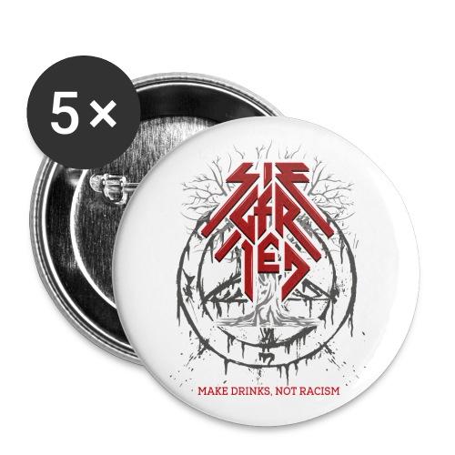 Siegfried Rheinland Dry Metal - Buttons groß 56 mm (5er Pack)