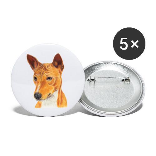 Basenji - Buttons/Badges stor, 56 mm (5-pack)
