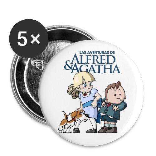 alfredagatha1 - Paquete de 5 chapas grandes (56 mm)