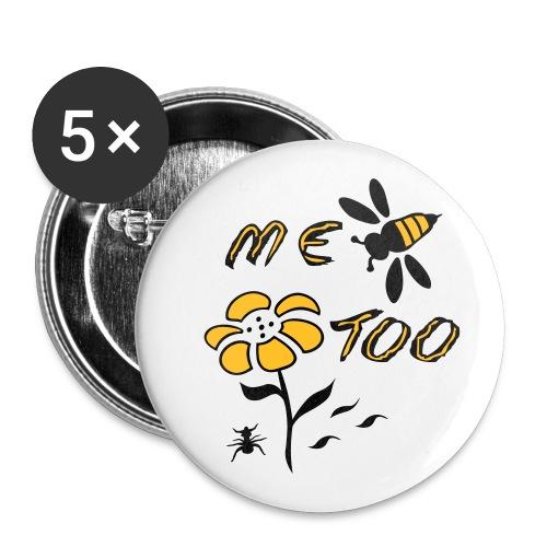 Biene - Buttons groß 56 mm (5er Pack)