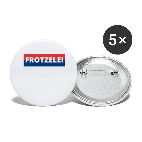FROTZELEI - Polizeikontrolle Geschenk Autofahrer - Buttons groß 56 mm (5er Pack)