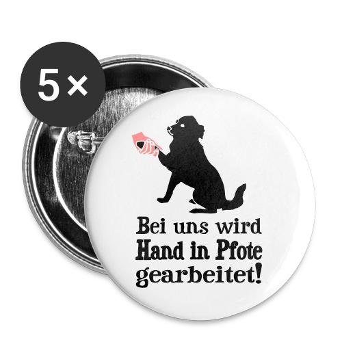 Hund Hundetraining Hundeschule Hundehalter Spruch - Buttons groß 56 mm (5er Pack)