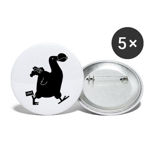 Hellgrau meliert Schwarz Seekuh - Riesenseekuh - Buttons groß 56 mm (5er Pack)