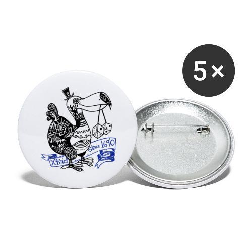 Dronte - Buttons groß 56 mm (5er Pack)