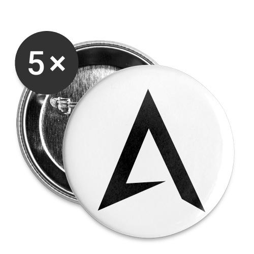alpharock A logo - Buttons large 2.2''/56 mm(5-pack)