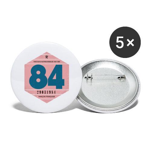 Vignette automobile 1984 - Lot de 5 grands badges (56 mm)