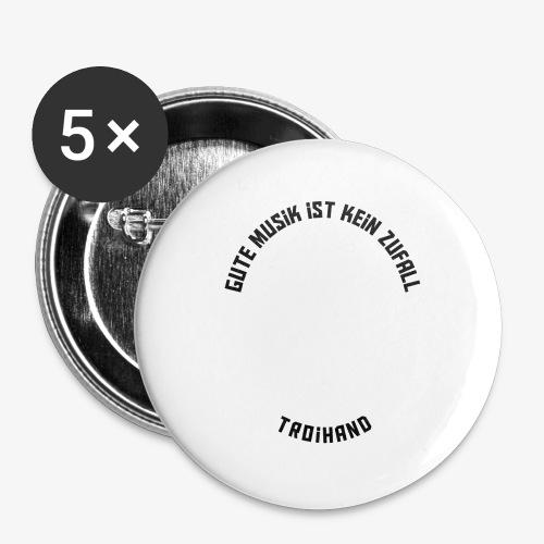 Logo Troihand invertiert - Buttons groß 56 mm (5er Pack)