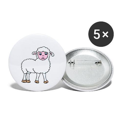 Minos le petit agneau - Lot de 5 grands badges (56 mm)