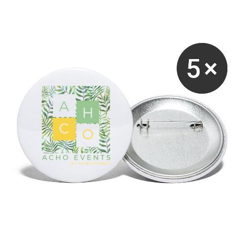 ACHOevents - Paquete de 5 chapas grandes (56 mm)