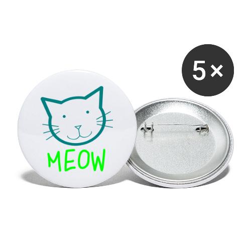 MEOW MIEZE - Buttons groß 56 mm (5er Pack)