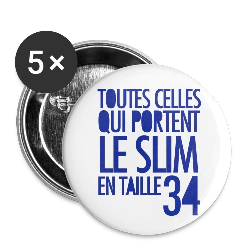 slimVIOLETTEEJAUNE 30 - Lot de 5 grands badges (56 mm)