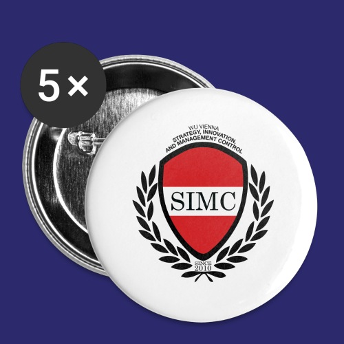simc logo original - Buttons large 2.2''/56 mm (5-pack)