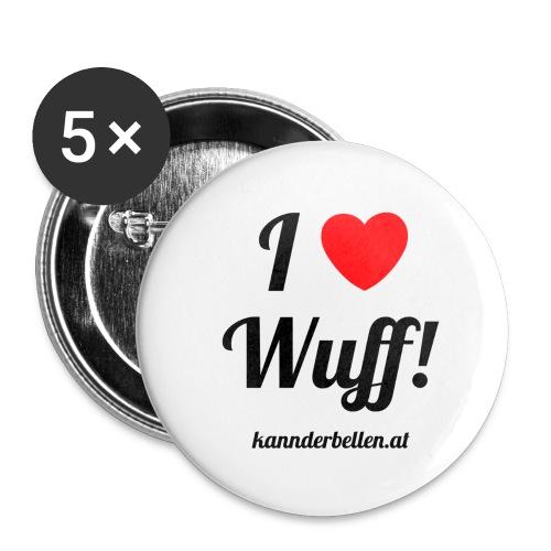 ilovebellenmitweb - Buttons groß 56 mm (5er Pack)