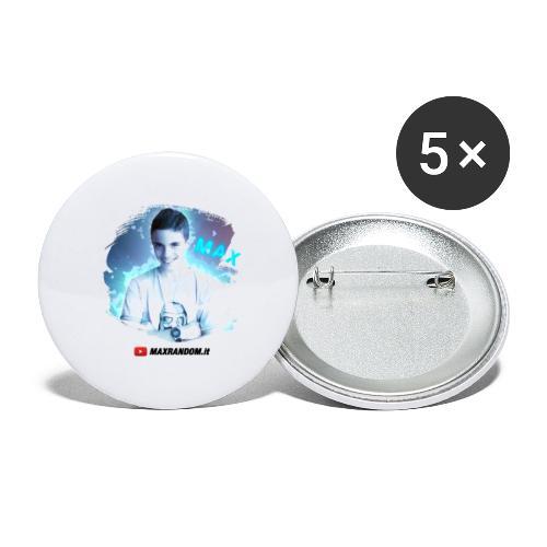 Max Random - Confezione da 5 spille grandi (56 mm)