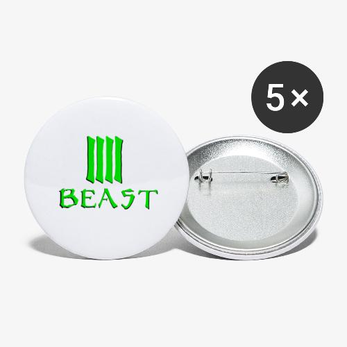 Beast Green - Buttons large 2.2''/56 mm (5-pack)