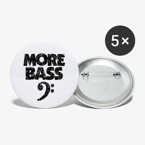 More Bass (Vintage/Schwarz) Bassisten - Buttons groß 56 mm (5er Pack)