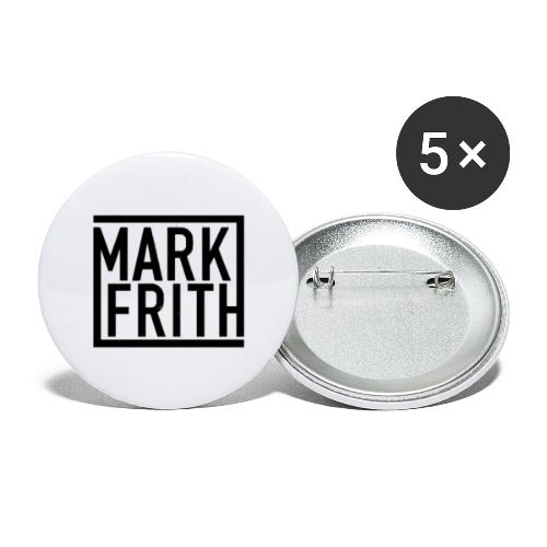 MARK FRITH Logo BLACK - Buttons large 2.2''/56 mm(5-pack)