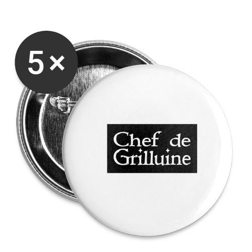 Chef de Grilluine - der Chef am Grill - Buttons groß 56 mm (5er Pack)