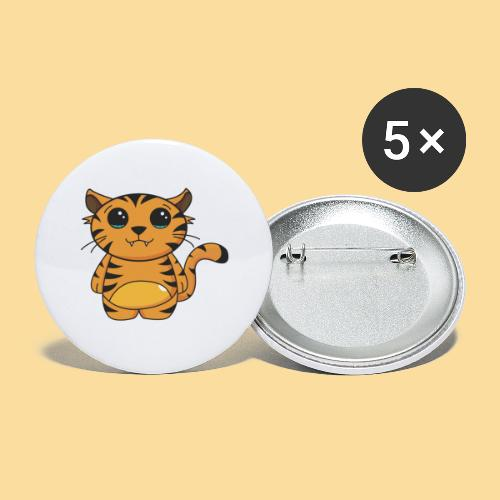 tiger shaped - Buttons large 2.2''/56 mm (5-pack)