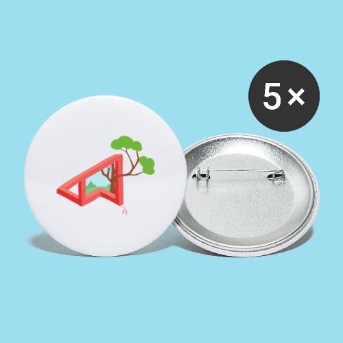 Summer Season - Buttons groß 56 mm (5er Pack)