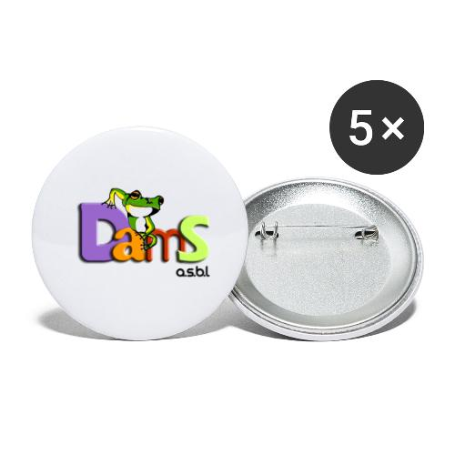 DAMS asbl - Lot de 5 grands badges (56 mm)