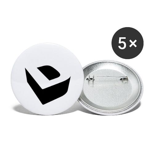 Extruded D - Buttons large 2.2''/56 mm (5-pack)
