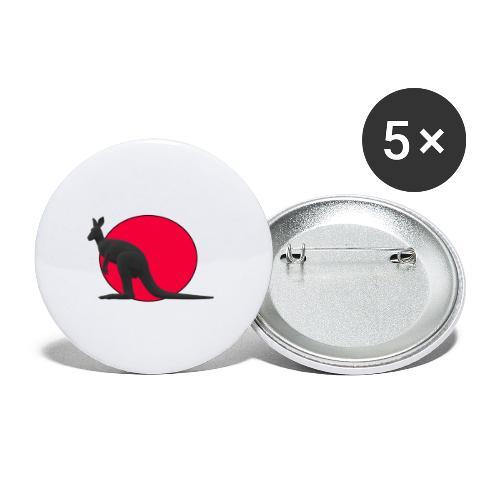 Silhouette Canguro2 - Confezione da 5 spille grandi (56 mm)