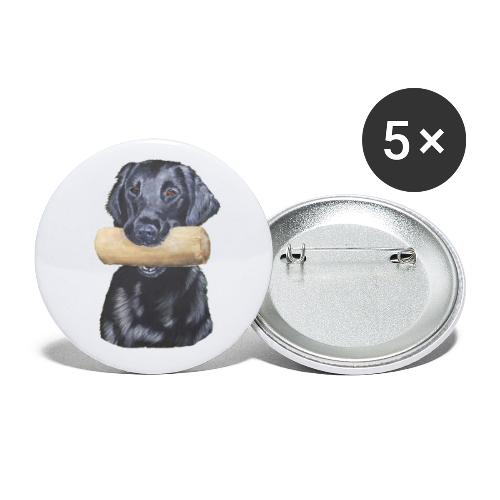 flatcoated retriever Dumbbell - Buttons/Badges stor, 56 mm (5-pack)
