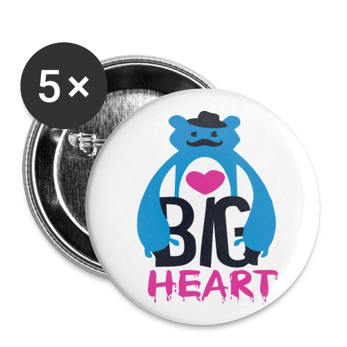 Big Heart Monster Hugs - Buttons large 2.2''/56 mm (5-pack)