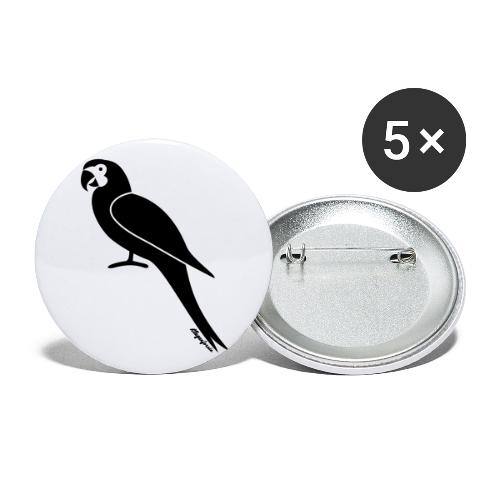 Papagei Klagenfornia - Buttons groß 56 mm (5er Pack)