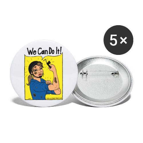We Can Do It! - Rintamerkit isot 56 mm (5kpl pakkauksessa)