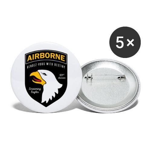 Airborne 101st - Lot de 5 grands badges (56 mm)