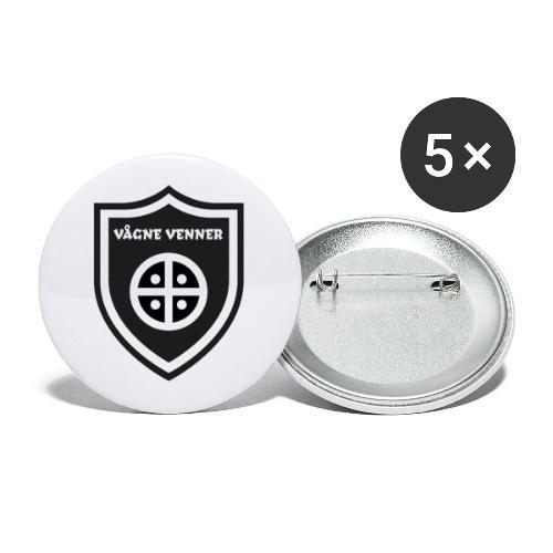 Skjold - Buttons/Badges stor, 56 mm (5-pack)