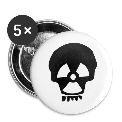totenkopf nuklear - Buttons groß 56 mm (5er Pack)