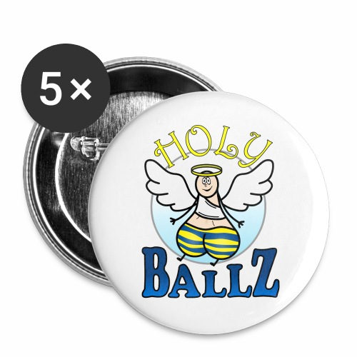 Holy Ballz Charlie - Buttons large 2.2''/56 mm(5-pack)