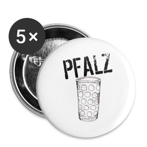 Pfalzshirt mit Dubbeglas, weiß - Buttons groß 56 mm (5er Pack)