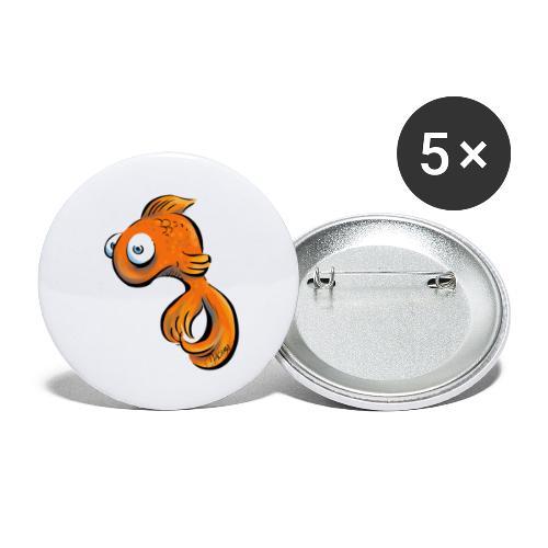 Frustfisch - Buttons groß 56 mm (5er Pack)