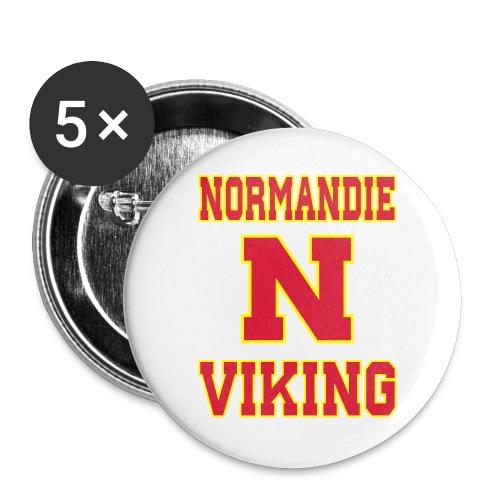 Normandie Viking - Lot de 5 grands badges (56 mm)