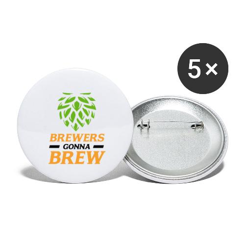 Brewers gonna brew! - Brauer gift idea - Buttons large 2.2''/56 mm (5-pack)