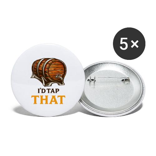 Beer / beer keg fan - gift idea - Buttons large 2.2''/56 mm (5-pack)