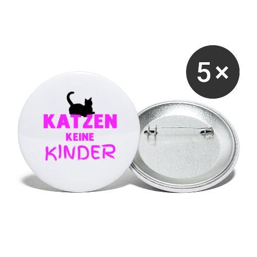 Meine Katzen sind meine Kinder Katzenliebhaber - Buttons groß 56 mm (5er Pack)