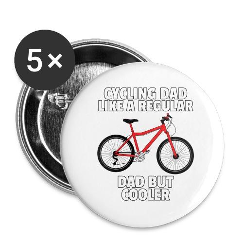 Fahrrad Radfahrer Radfahren Fahrradfahren Geschenk - Buttons groß 56 mm (5er Pack)